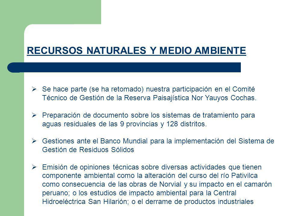 Se hace parte (se ha retomado) nuestra participación en el Comité Técnico de Gestión de la Reserva Paisajística Nor Yauyos Cochas. Preparación de docu