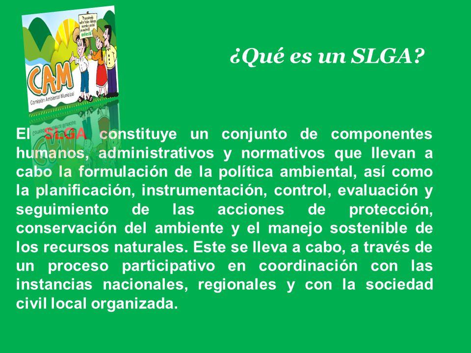 ¿Qué es un SLGA? El SLGA constituye un conjunto de componentes humanos, administrativos y normativos que llevan a cabo la formulación de la política a