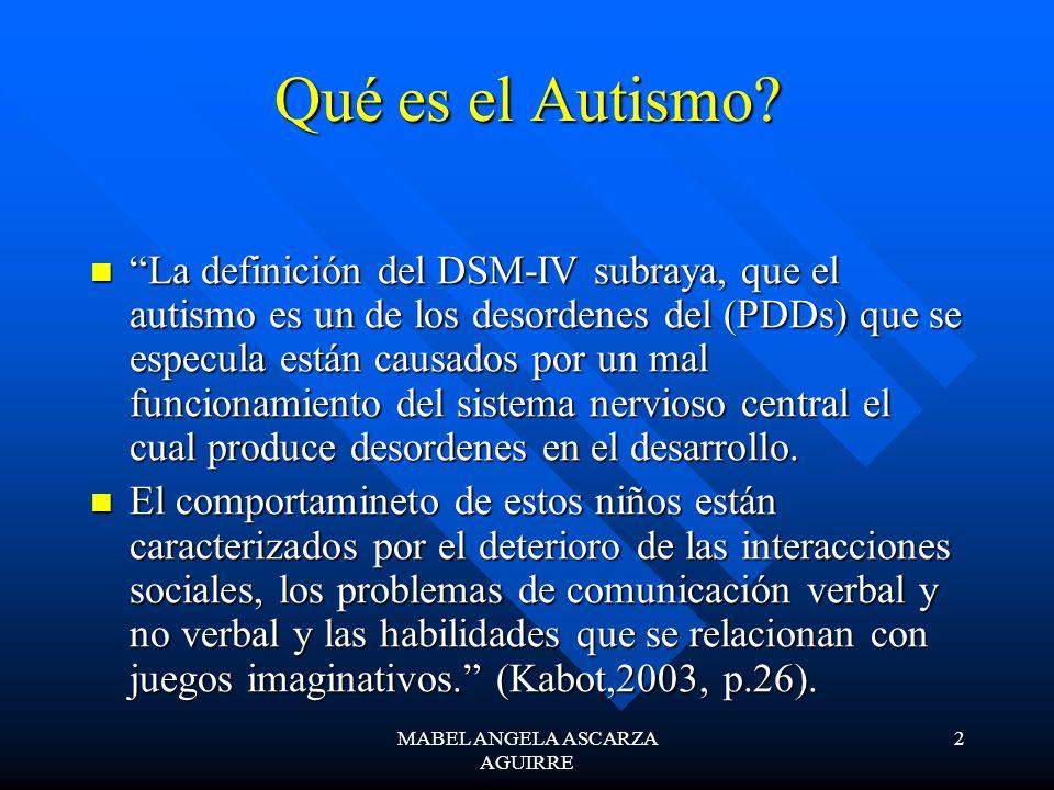 2 Qué es el Autismo? La definición del DSM-IV subraya, que el autismo es un de los desordenes del (PDDs) que se especula están causados por un mal fun