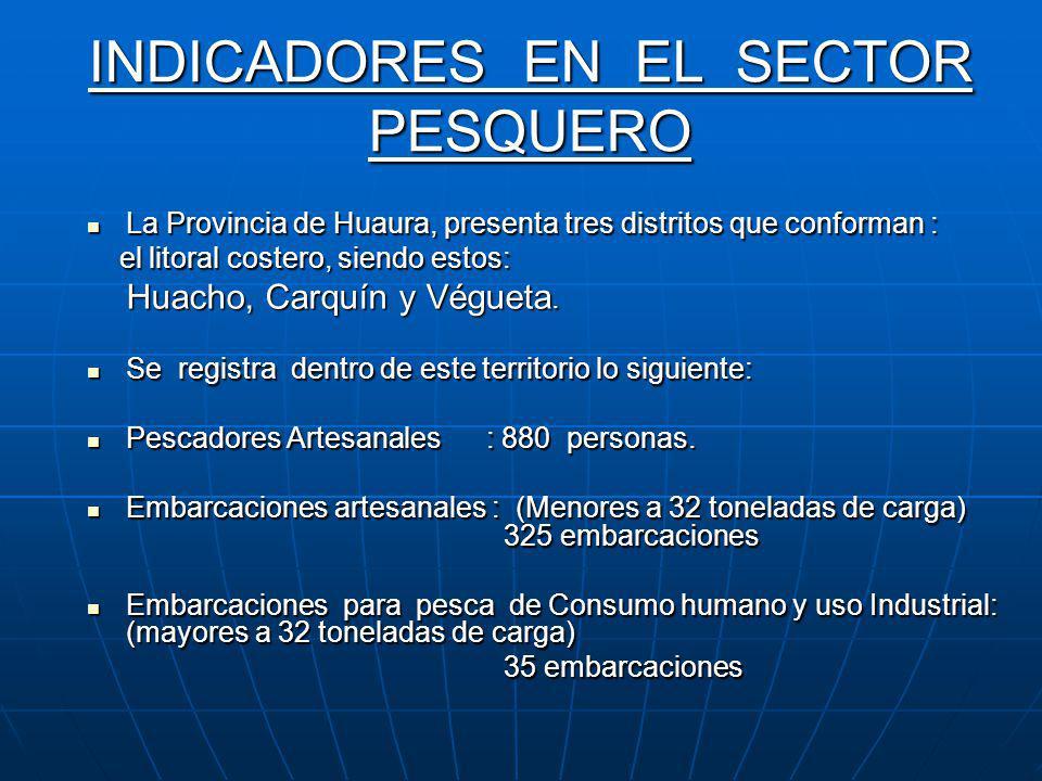 INDICADORES EN EL SECTOR AGRICOLA La Provincia de Huaura presenta las siguientes áreas de terrenos, conforme a la información otorgada por el Minister