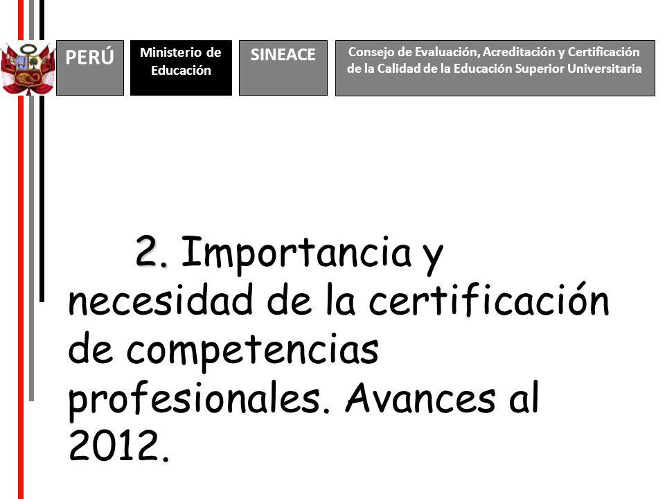 2.2. Importancia y necesidad de la certificación de competencias profesionales.