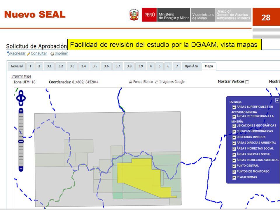 28 Event Facilidad de revisión del estudio por la DGAAM, vista mapas Nuevo SEAL