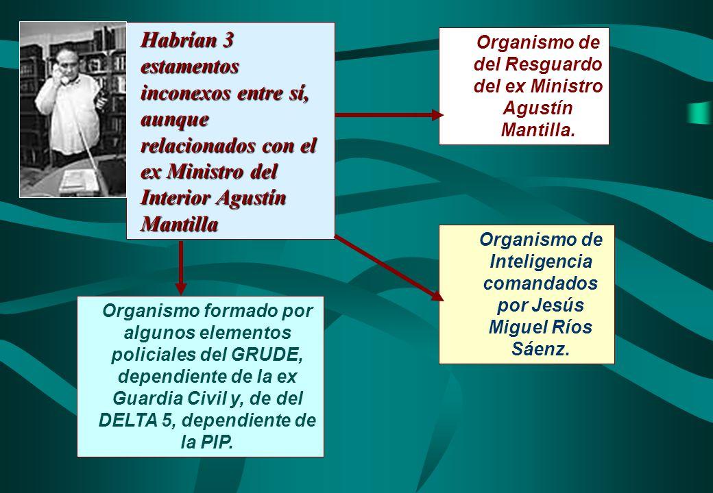 Organismo de del Resguardo del ex Ministro Agustín Mantilla. Habrían 3 estamentos inconexos entre sí, aunque relacionados con el ex Ministro del Inter