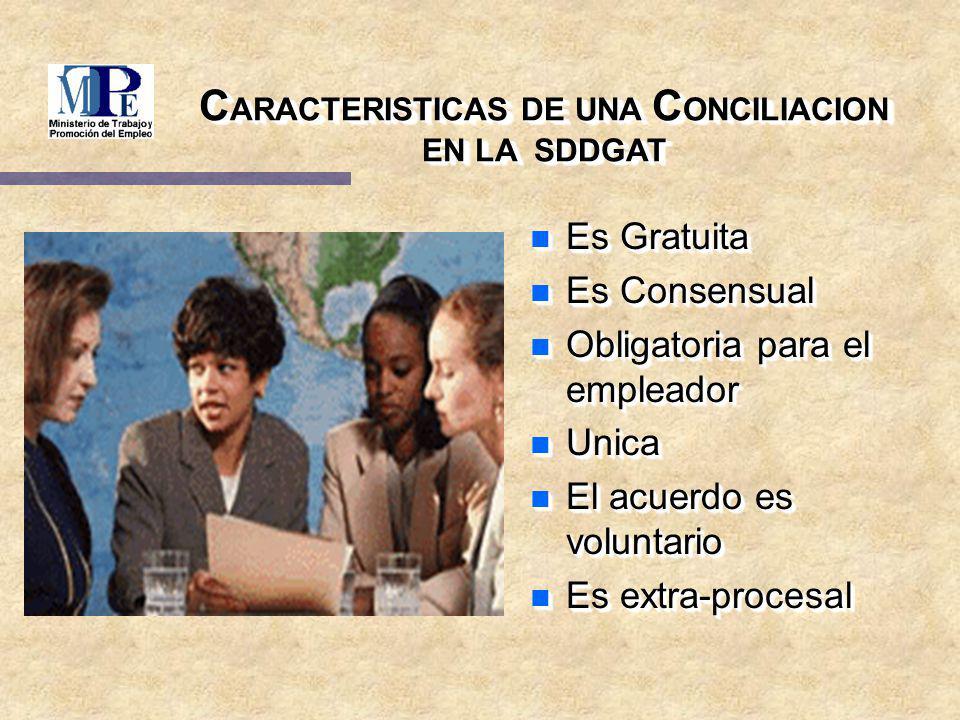 L A C ONCILIACION S EGÚN EL D.LEG.Nº 910 y D.S.