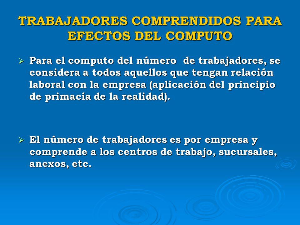 PERMANENCIA DE LA CONDICION MYPE La PEQUEÑA EMPRESA deja de tener su condición de tal, cuando en el período de dos (02) años consecutivos, exceden el