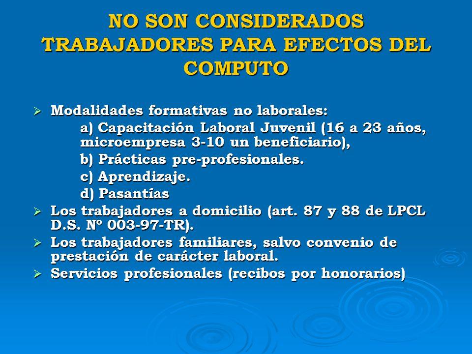 PRINCIPALES MODALIDADES DE CONTRATACION LABORAL D.S. Nº 003-97-TR ( TUO D.Leg 728) D.S. Nº 003-97-TR ( TUO D.Leg 728) CONTRATOS DE NATURALEZA TEMPORAL