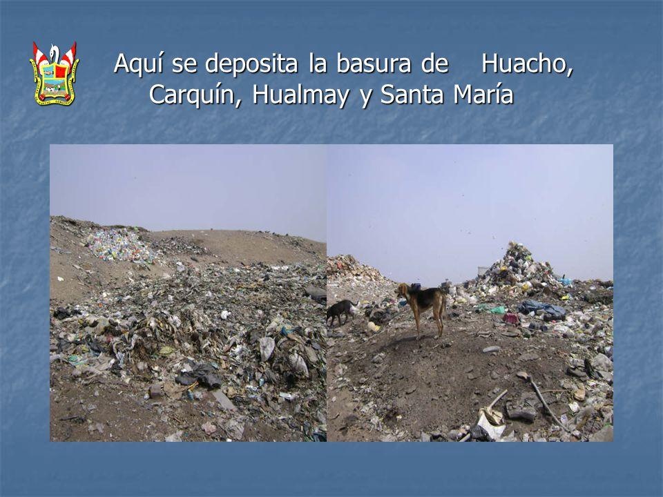 Aquí se deposita la basura de Huacho, Carquín, Hualmay y Santa María Aquí se deposita la basura de Huacho, Carquín, Hualmay y Santa María