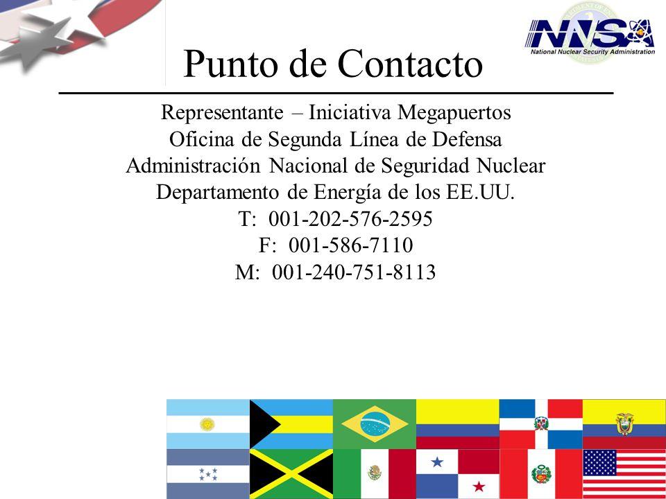 Julio de 2009 Punto de Contacto Representante – Iniciativa Megapuertos Oficina de Segunda Línea de Defensa Administración Nacional de Seguridad Nuclea