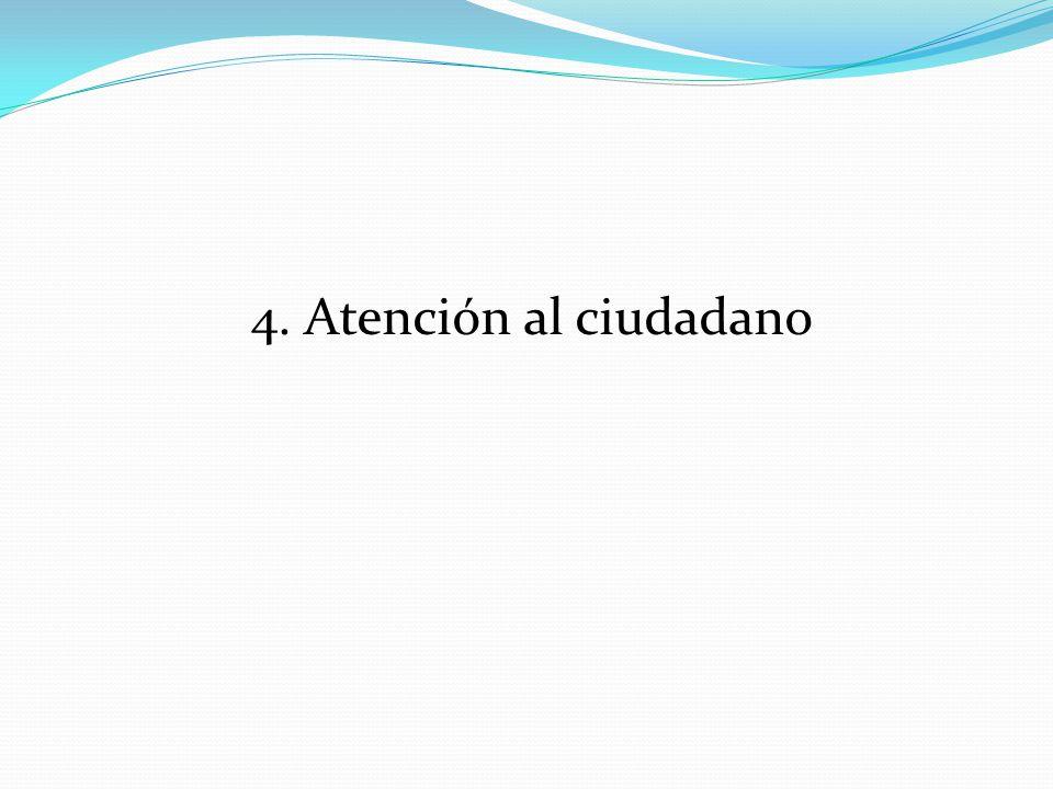 4. Atención al ciudadano