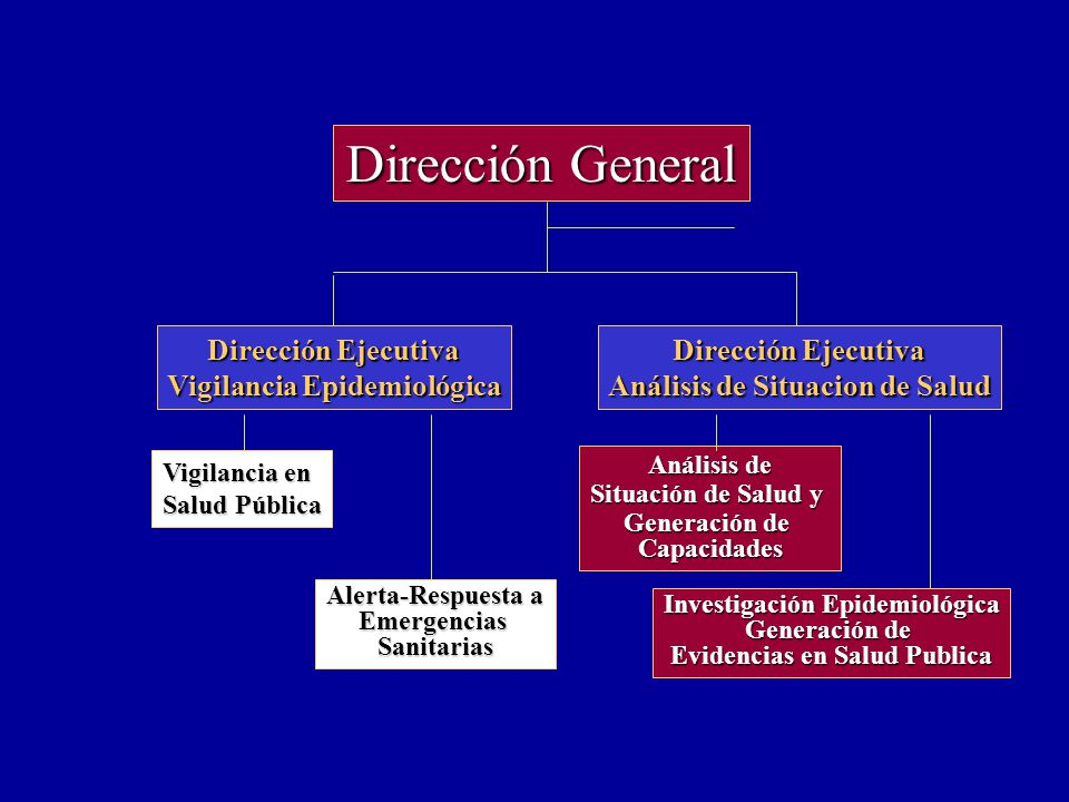 Dirección General Dirección Ejecutiva Vigilancia Epidemiológica Vigilancia en Salud Pública Alerta-Respuesta a EmergenciasSanitarias Vigilancia en Salud Pública