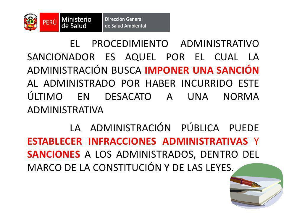 FINALIDAD DEL PROCEDIMIENTO SANCIONADOR: Identificar a aquellos sujetos que en el desarrollo de sus actividades infrinjan las disposiciones administrativas.