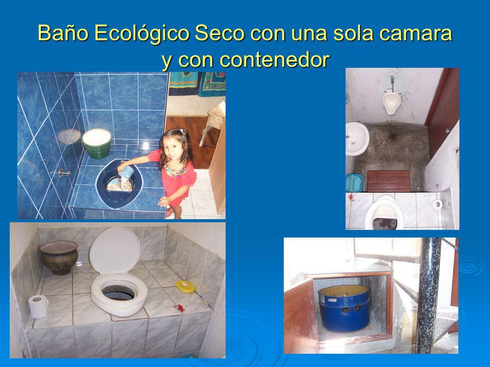 Baño Ecológico Seco con una sola camara y con contenedor