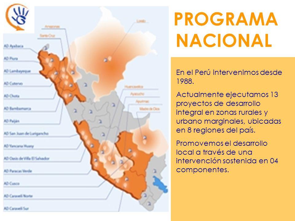 PROGRAMA NACIONAL En el Perú intervenimos desde 1988.
