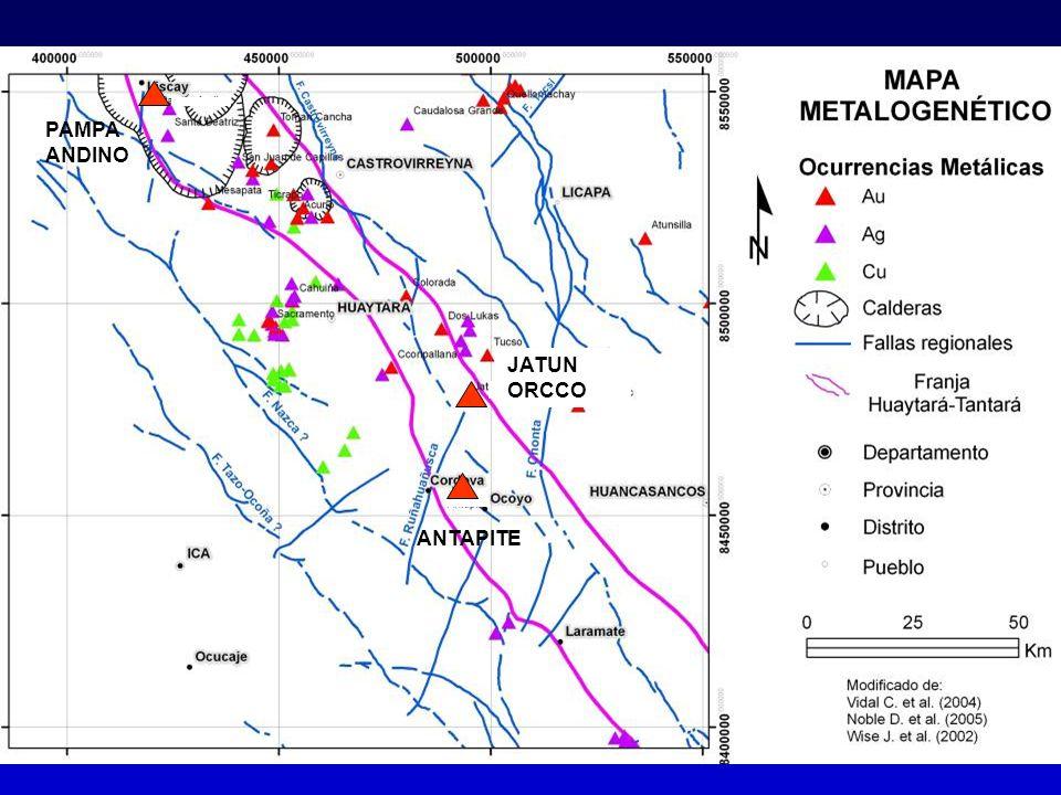 Plumbotectónica - Thoriogénico UBICACIÓN DE MUESTRAS - ANTAPITE Referencia: Angeles (2000)