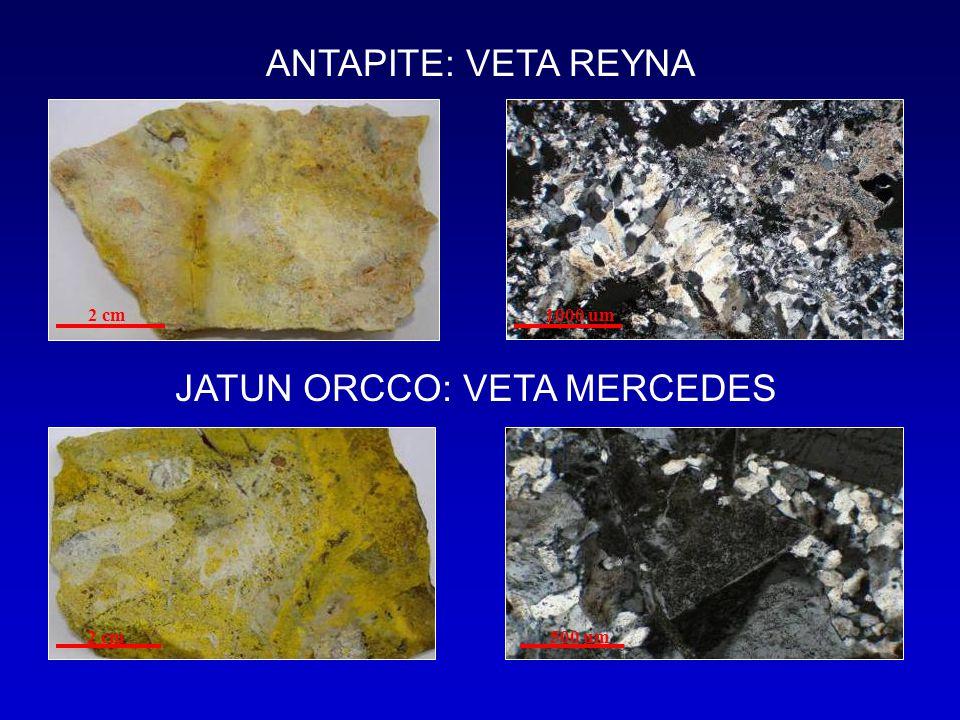 UBICACIÓN DE MUESTRAS – JATUN ORCCO Referencia: Condori et al. (2002)