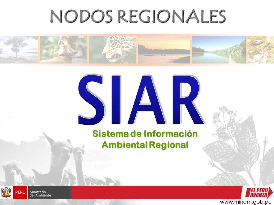 NODOS REGIONALES Sistema de Información Ambiental Regional