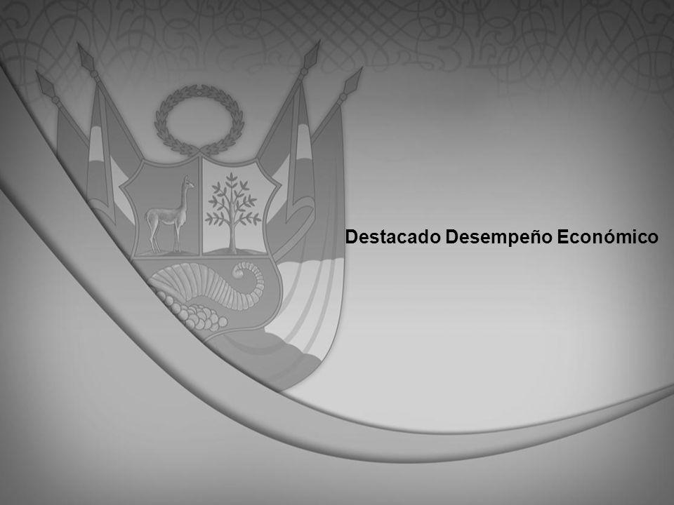 En el último quinquenio el Perú se ubicó entre los países de mayor crecimiento en el mundo PBI Perú y Mundo 2006-2010 (Var.