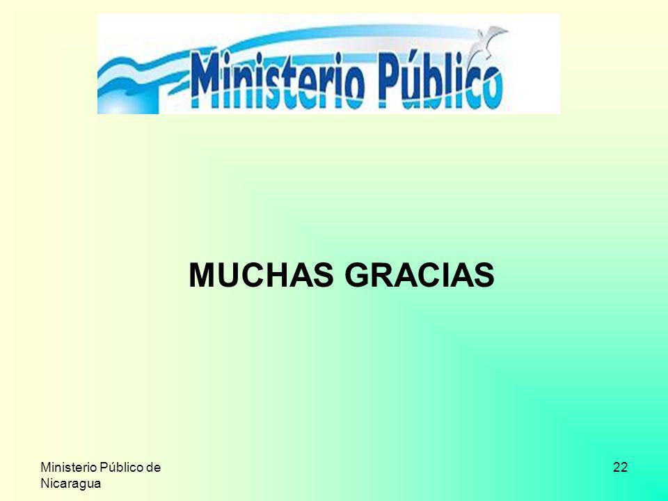 Ministerio Público de Nicaragua 22 MUCHAS GRACIAS