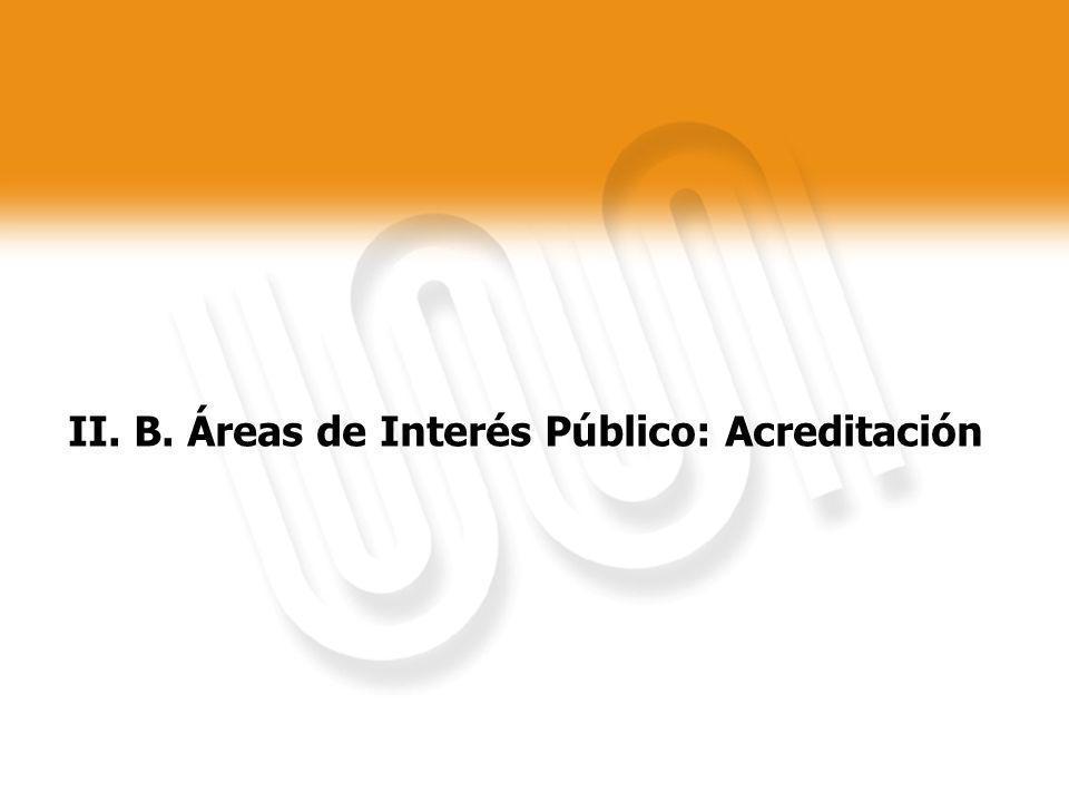 II. B. Áreas de Interés Público: Acreditación