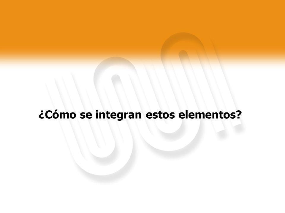 ¿Cómo se integran estos elementos?