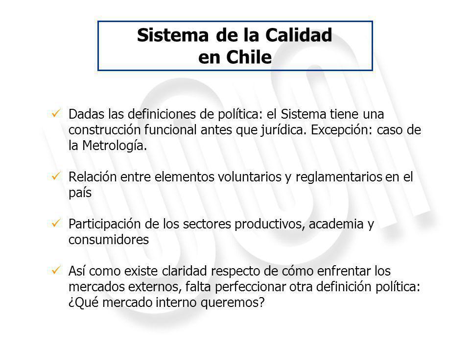 Sistema de Calidad Chileno: Experiencias y su aporte al desarrollo económico Junio, 2012