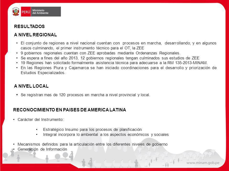 RESULTADOS A NIVEL REGIONAL El conjunto de regiones a nivel nacional cuentan con procesos en marcha, desarrollando, y en algunos casos culminando, el