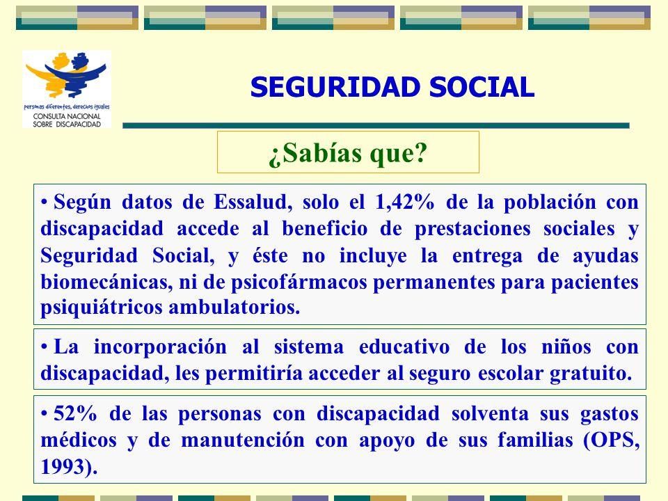 21 SEGURIDAD SOCIAL ¿Sabías que? La incorporación al sistema educativo de los niños con discapacidad, les permitiría acceder al seguro escolar gratuit