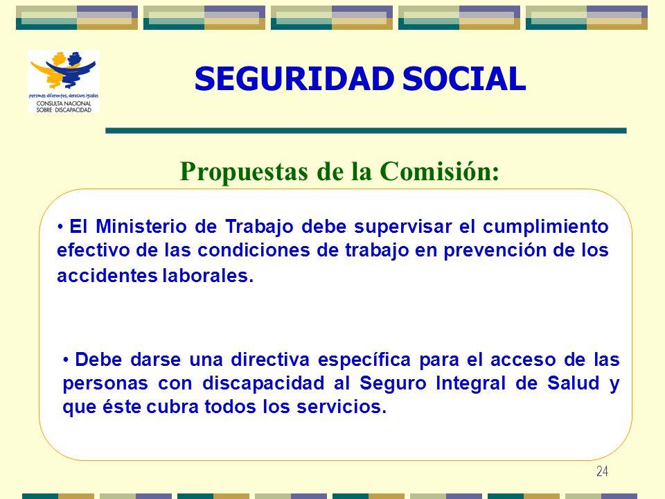 24 SEGURIDAD SOCIAL El Ministerio de Trabajo debe supervisar el cumplimiento efectivo de las condiciones de trabajo en prevención de los accidentes la