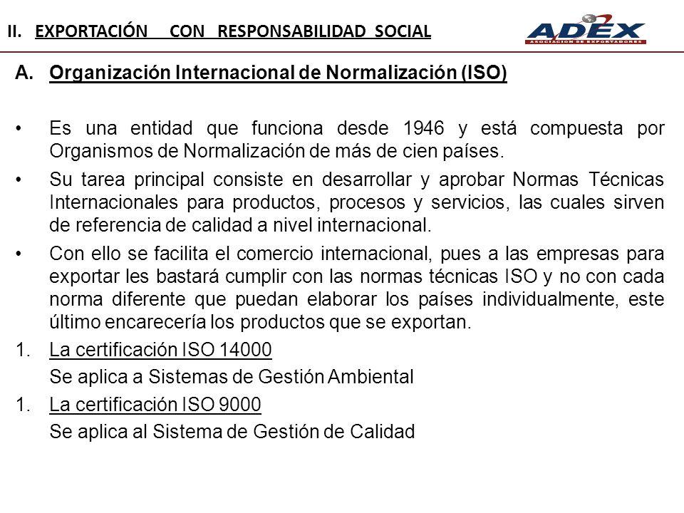 A.Organización Internacional de Normalización (ISO) Es una entidad que funciona desde 1946 y está compuesta por Organismos de Normalización de más de