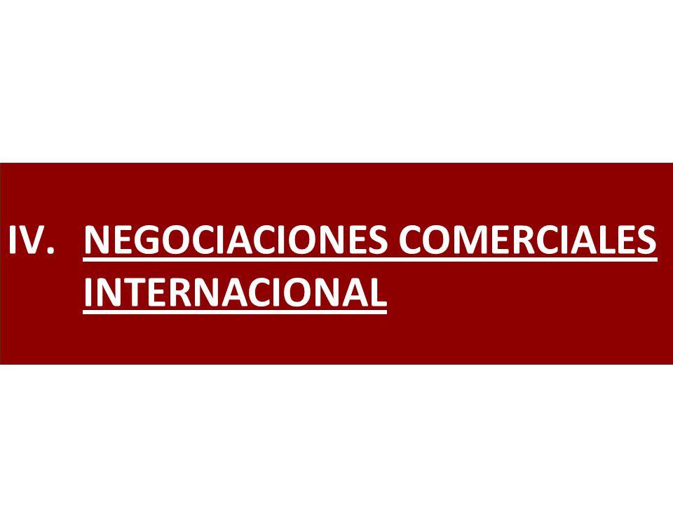IV.NEGOCIACIONES COMERCIALES INTERNACIONAL