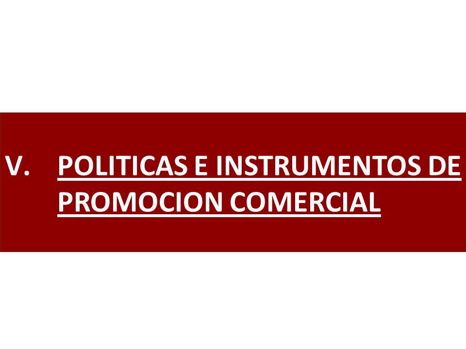 V.POLITICAS E INSTRUMENTOS DE PROMOCION COMERCIAL