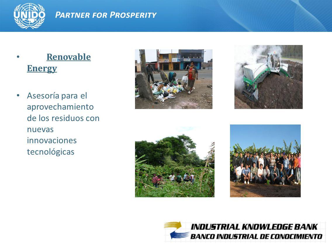 12 Renovable Energy Asesoría para el aprovechamiento de los residuos con nuevas innovaciones tecnológicas