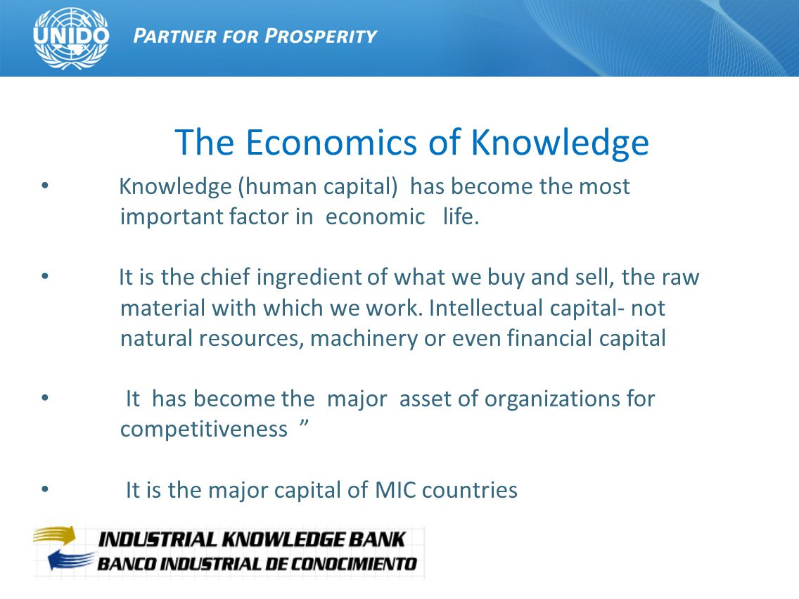 The Industrial Knowledge Bank (IKB) is a platform of tripartite cooperation for discovering, managing and exchanging the most precious asset of MICs the strategic knowledge and expertise on industrial and productive development the main currency are NEUROS (Neurons + Euros) not EUROS