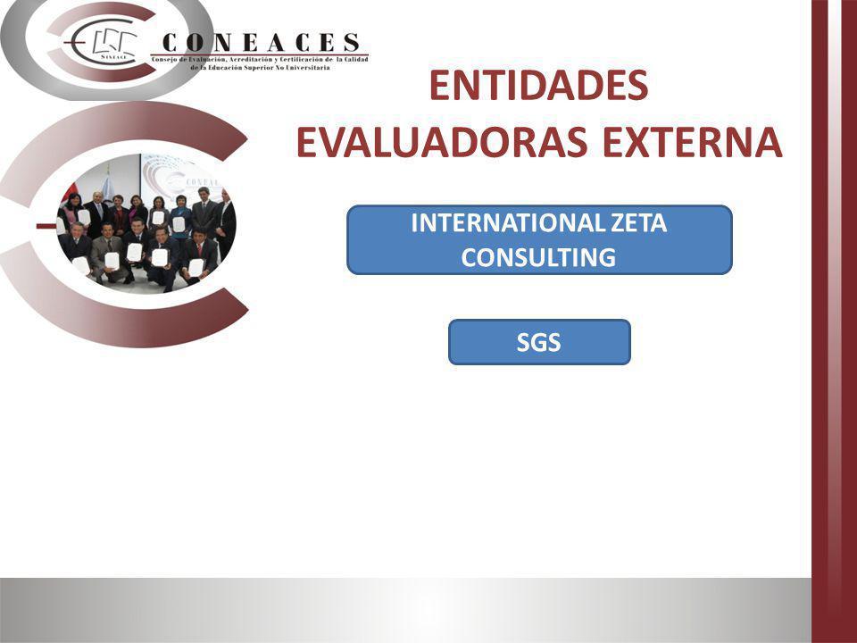 SGS ENTIDADES EVALUADORAS EXTERNA INTERNATIONAL ZETA CONSULTING