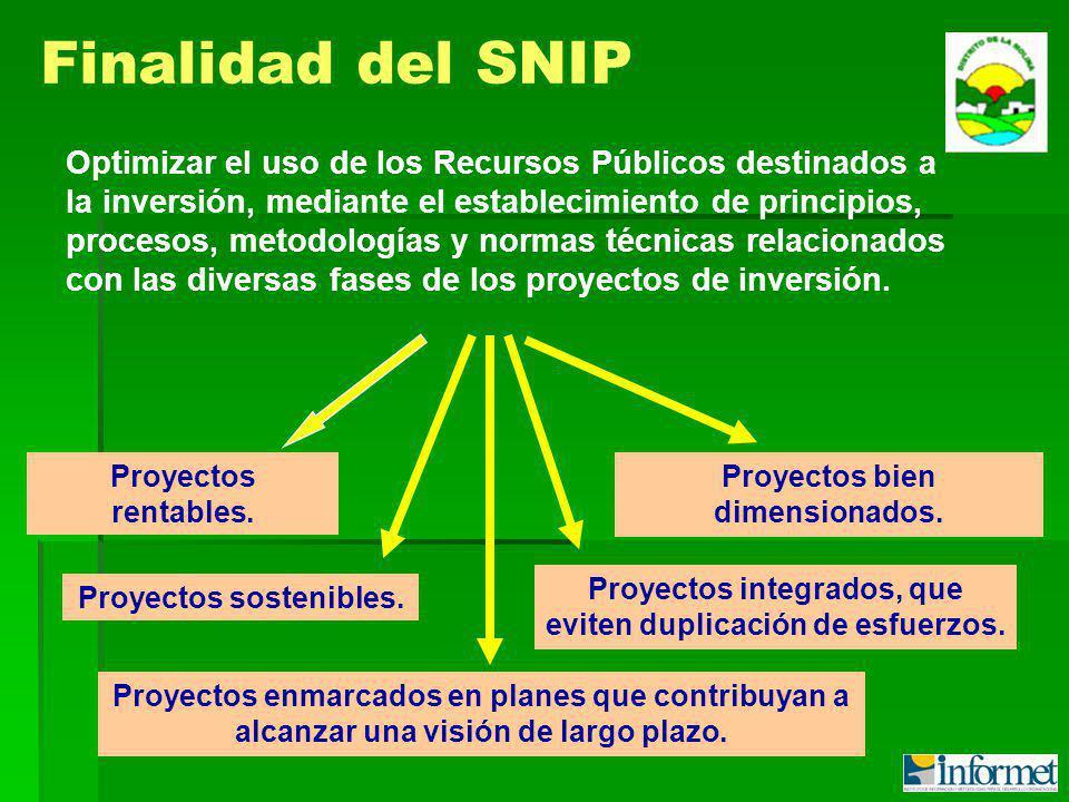 Optimizar el uso de los Recursos Públicos destinados a la inversión, mediante el establecimiento de principios, procesos, metodologías y normas técnicas relacionados con las diversas fases de los proyectos de inversión.