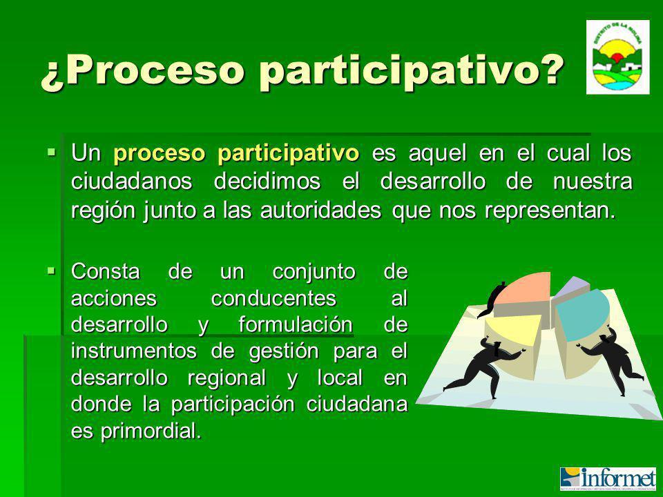 ¿Proceso participativo.