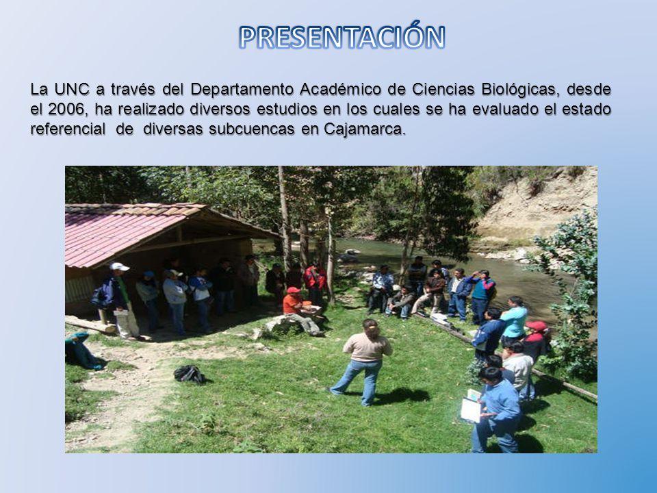 La UNC a través del Departamento Académico de Ciencias Biológicas, desde el 2006, ha realizado diversos estudios en los cuales se ha evaluado el estad