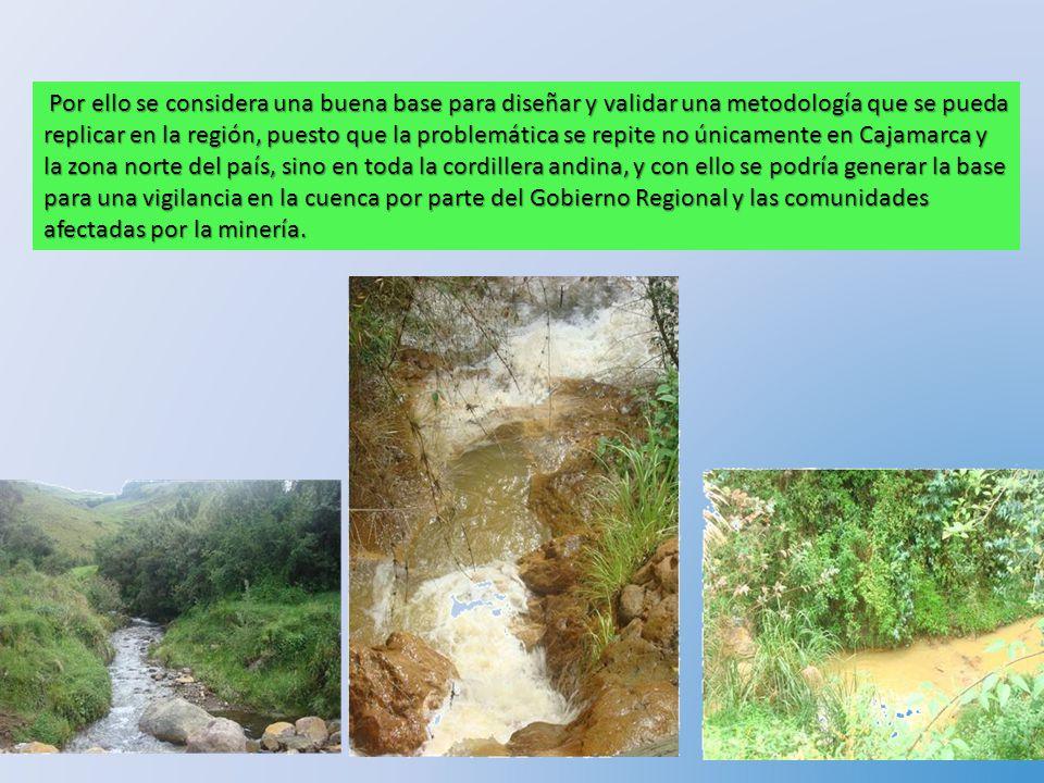 Resultados del Estudio Realizado en la Cuenca del Jequetepque