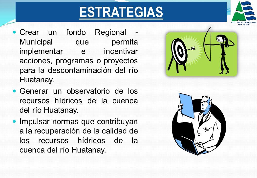 Crear un fondo Regional - Municipal que permita implementar e incentivar acciones, programas o proyectos para la descontaminación del río Huatanay.