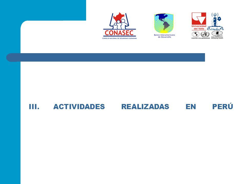 III.ACTIVIDADES REALIZADAS EN PERÚ