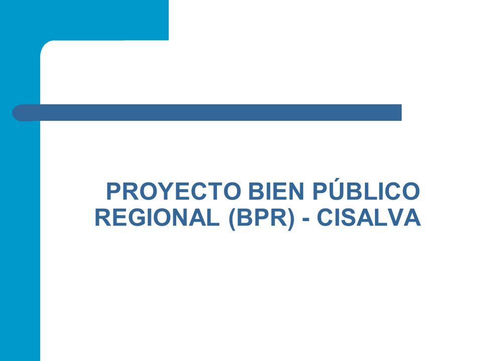 PROYECTO BIEN PÚBLICO REGIONAL (BPR) - CISALVA