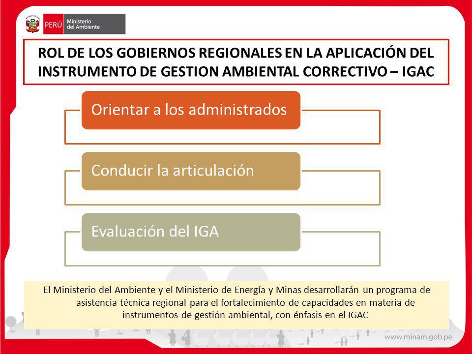 El Ministerio del Ambiente y el Ministerio de Energía y Minas desarrollarán un programa de asistencia técnica regional para el fortalecimiento de capa