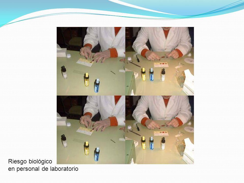 Riesgo biológico en personal de laboratorio