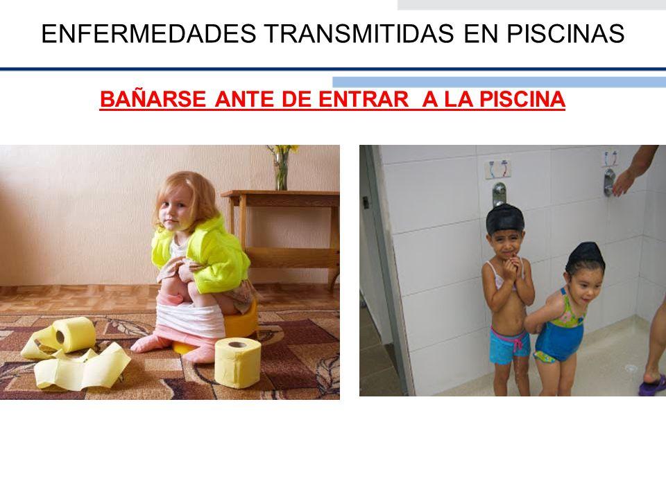 ENFERMEDADES TRANSMITIDAS EN PISCINAS RECOMENDACIONES PARA LOS PADRES DE NIÑOS PEQUEÑOS 1- Lleve a los niños al cuarto de baño y revise sus pañales con frecuencia.