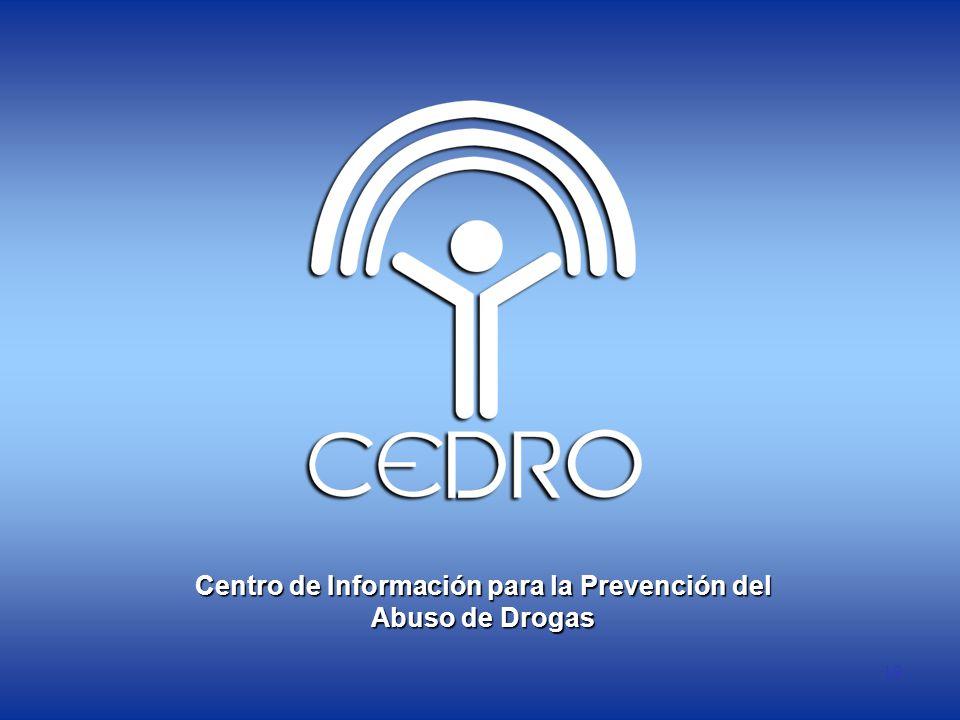19 Centro de Información para la Prevención del Abuso de Drogas