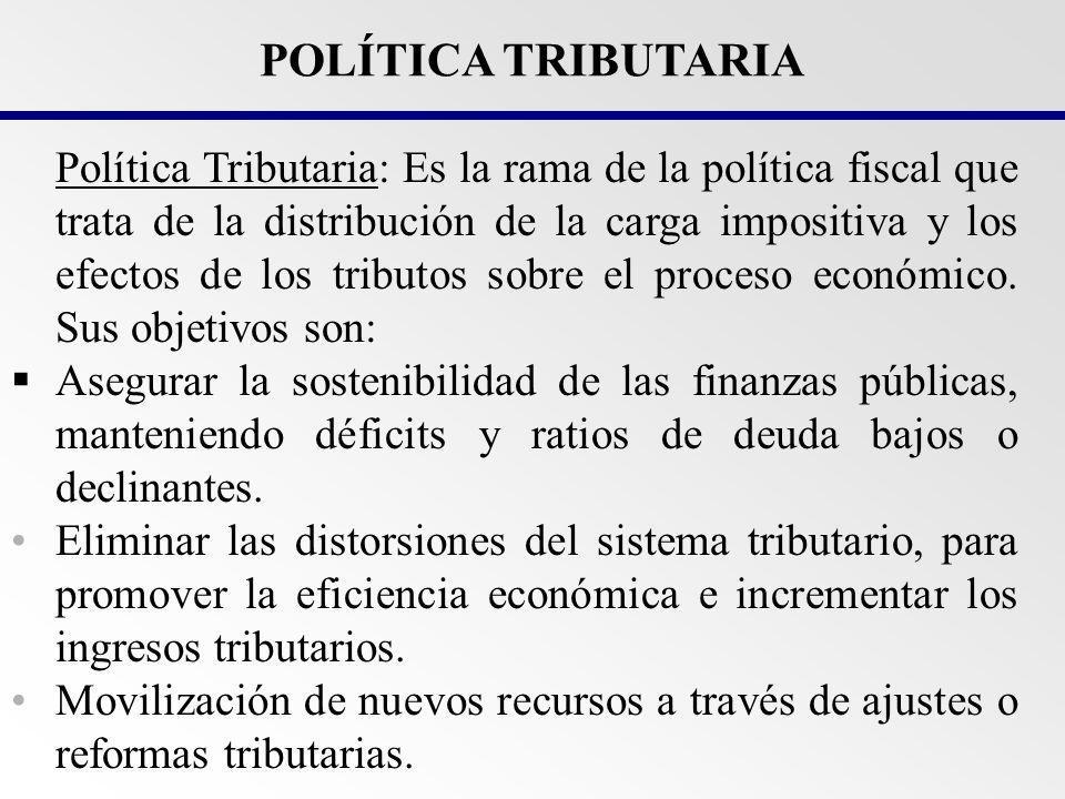 Política Tributaria Que Impuestos Quienes Contribuyen Que se grava Cual es la tasa Políticas Sectoriales Qué es la Política Tributaria.