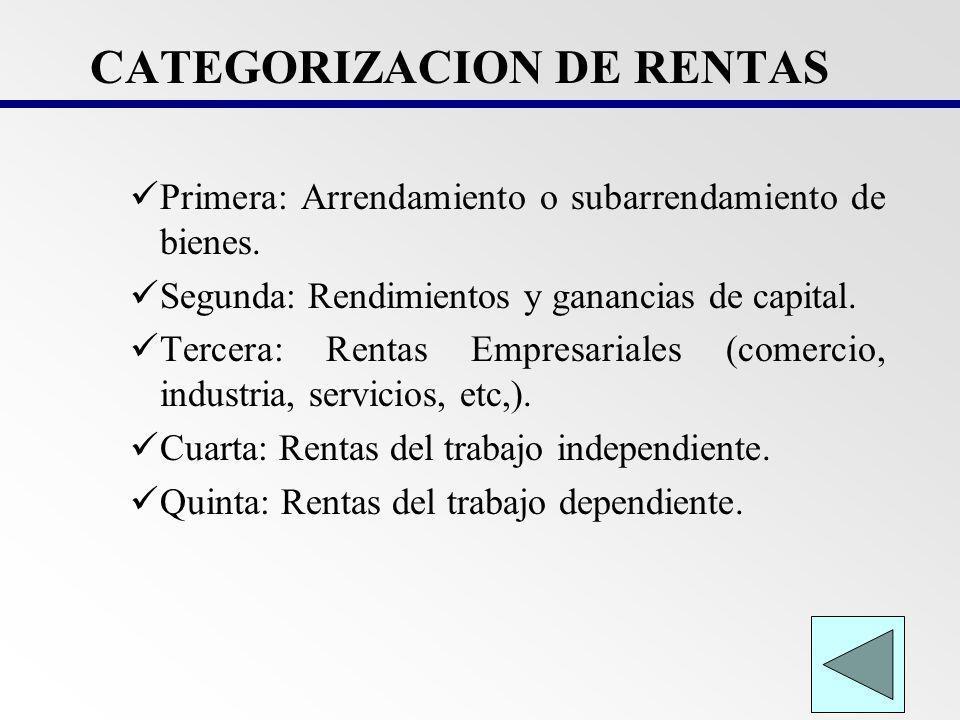 I.RENTA DE PERSONAS FISICAS: RENTAS NO AFECTAS Las indemnizaciones laborales, de vida o de incapacidad.