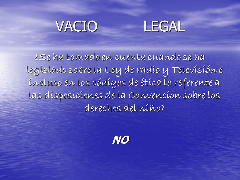 VACIO LEGAL ¿Se ha tomado en cuenta cuando se ha legislado sobre la Ley de radio y Televisión e incluso en los códigos de ética lo referente a las dis