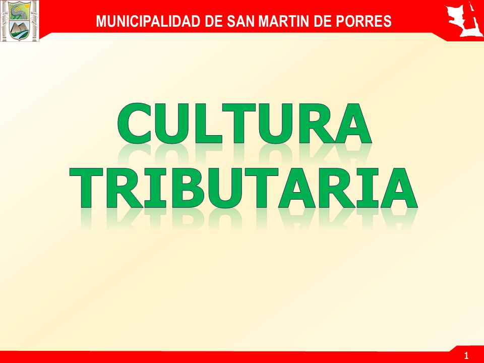 1 MUNICIPALIDAD DE SAN MARTIN DE PORRES