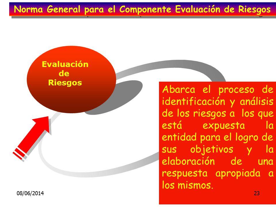Evaluación de Riesgos Abarca el proceso de identificación y análisis de los riesgos a los que está expuesta la entidad para el logro de sus objetivos